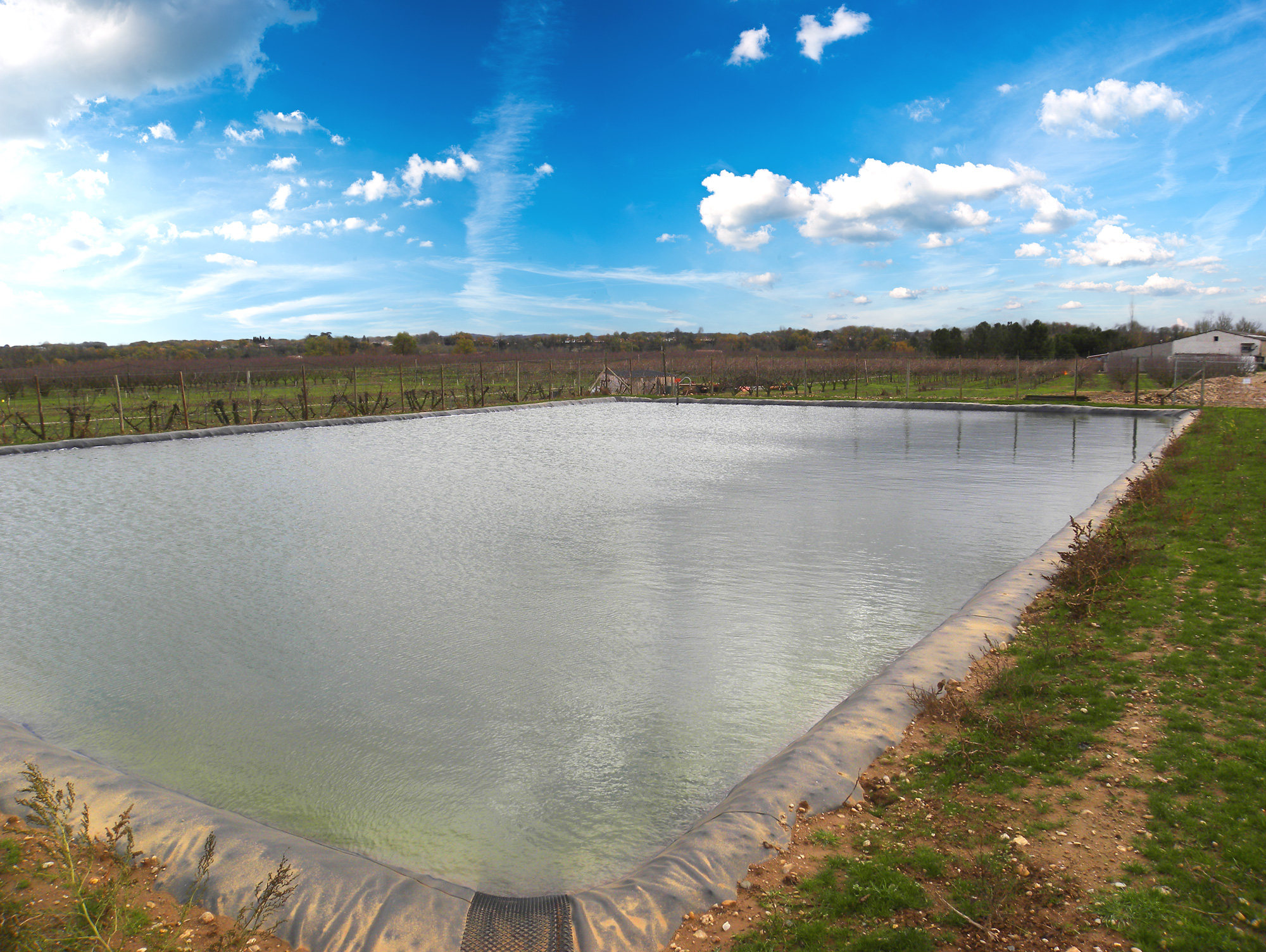 Comment Faire Un Etang Avec Une Bache bassin d'irrigation, stockage géomembrane, diva plastiques